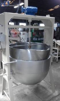 Pot for candy in stainless steel capacity 300 liters