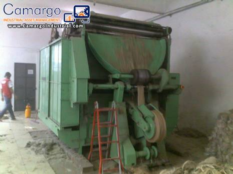 Equipment for processing natural or synthetic fibers 150 kg hour