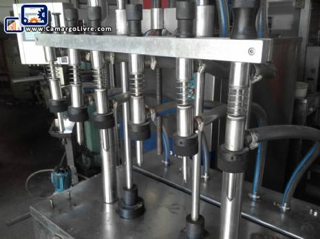 Linear filling in stainless steel with 6 nozzles Zolimaq