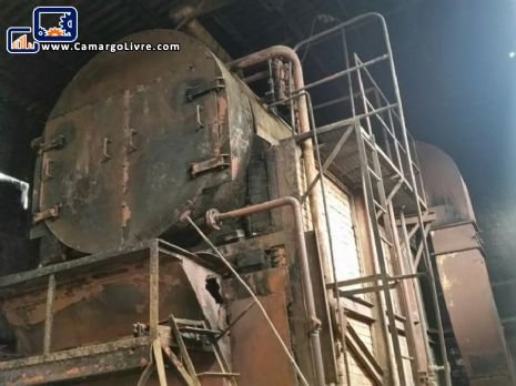 Horizontal steam generator / boiler to firewood / wood