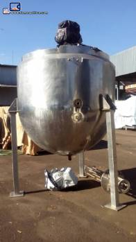 Pot cooker in stainless steel jacketed of 3,000 L