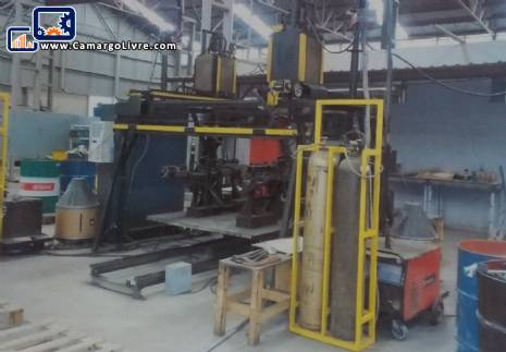 Metal profile production line