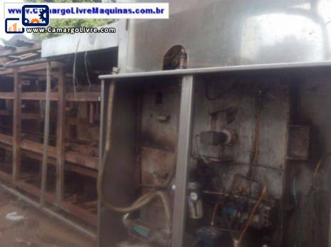 Continuous potato fryer for 250 kg per hour