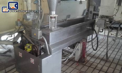 Double stainless steel mixer for biscuits with feeder