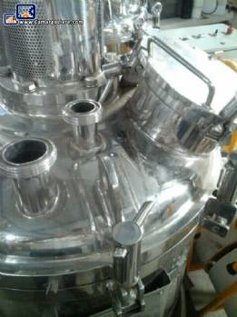 Reactor with agitator and homogenizer stainless steel 316 L 140 liter Inoxil