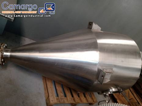 Stainless steel vertical silo
