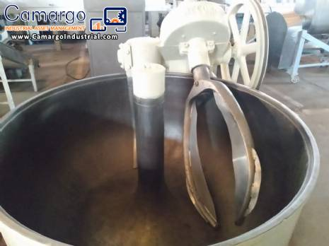 Carbon steel hook mixer machine 300 kg