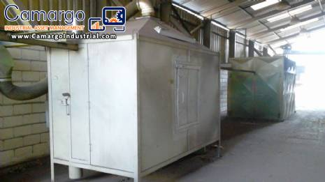 Electrostatic painting line powder painting