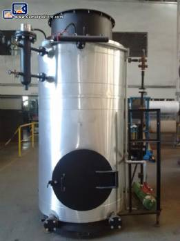 Stainless steel boiler wood