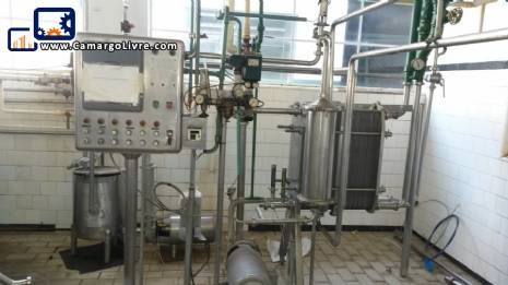 Complete set 7,500 litres for cheese milk pasteurizer