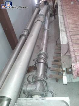 Stainless steel conveyor and silo