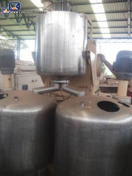 Industrial mixer for sugar, glucose for soft or hard candies