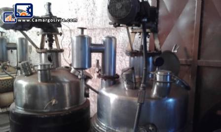 Stainless steel buller pressure reactor for 300 kg