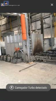 Industrial furnace for enamelling parts Durr
