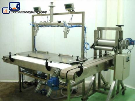 Liquid and viscous products packaging machine